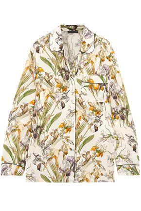 ALEXANDER MCQUEEN Floral-print silk shirt