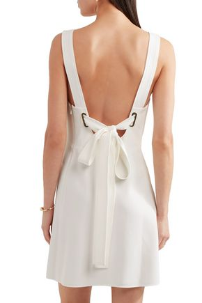 CHLOÉ Bow-detailed crepe mini dress