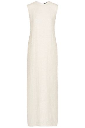 THE ROW Ersa linen-blend bouclé maxi dress