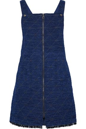 SEA Quilted cotton-blend chambray mini dress