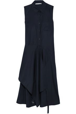STELLA McCARTNEY Wrap-effect layered cotton-poplin midi dress
