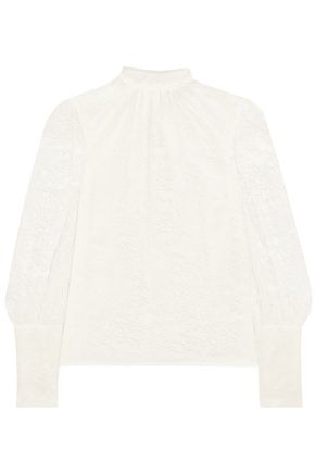 LANVIN Chantilly lace turtleneck top
