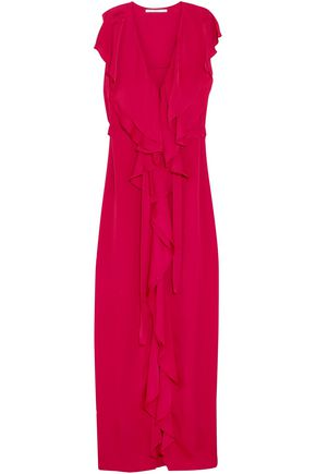 STELLA McCARTNEY Rasalia ruffled satin-crepe gown