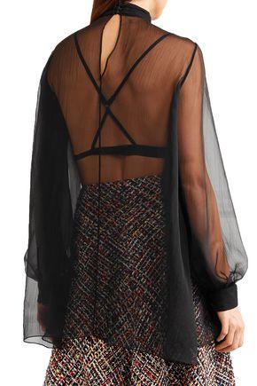 3173b35fc440e0 ... ALEXANDER MCQUEEN Gathered silk-georgette blouse