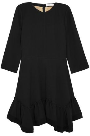 CHLOÉ Ruffled crepe mini dress