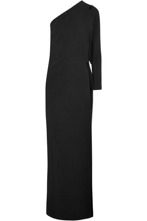 GIVENCHY One-shoulder stretch-cady gown