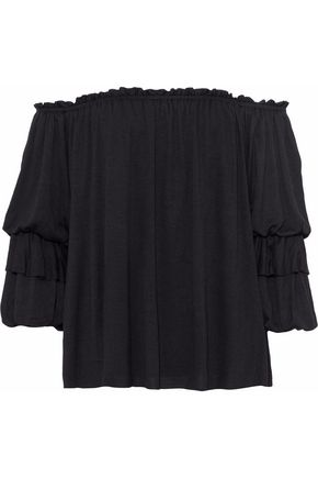BAILEY 44 Off-the-shoulder ruffled jersey top