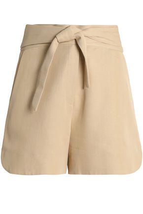 IRO Magik tie-waist cady shorts