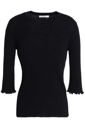 HOUSE OF DAGMAR Ribbed cotton-blend sweater