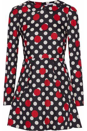 REDValentino Polka-dot silk-twill mini dress