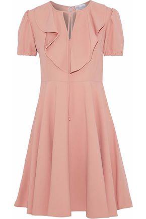 REDValentino Ruffle-trimmed crepe mini dress