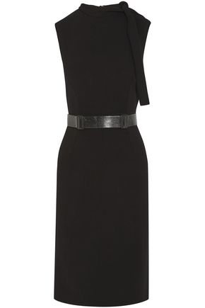 BOTTEGA VENETA Belted washed-crepe dress