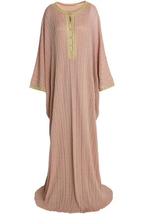 MISSONI Metallic stretch-knit kaftan