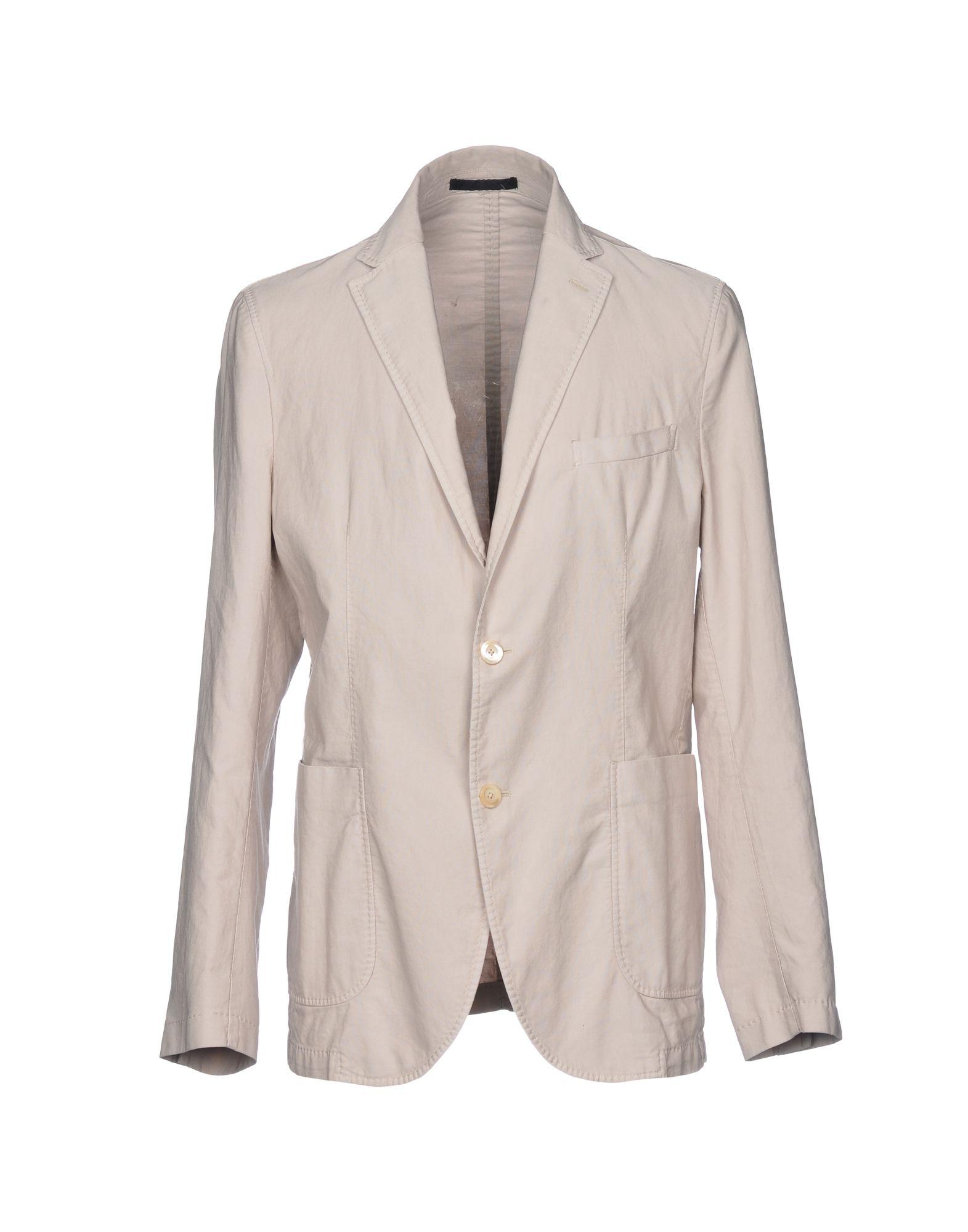 《送料無料》PAOLONI メンズ テーラードジャケット ライトグレー 54 コットン 100%