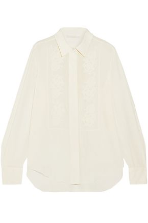 CHLOÉ Embroidered silk shirt