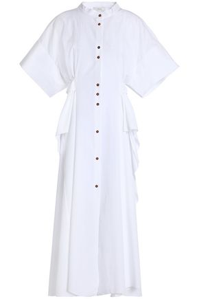 HOUSE OF DAGMAR Cotton-poplin midi dress