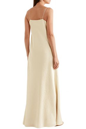 THE ROW Vera silk-cloqué gown