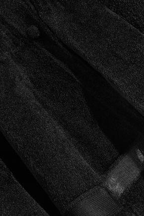 ALEXANDER MCQUEEN Mesh-paneled chenille cardigan
