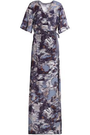 HOUSE OF DAGMAR Printed jersey maxi wrap dress