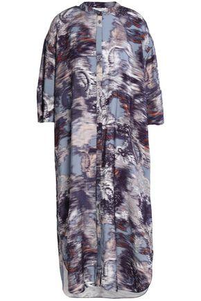 HOUSE OF DAGMAR Crinkled-poplin dress