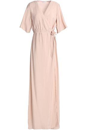 HOUSE OF DAGMAR Charmeuse maxi wrap dress