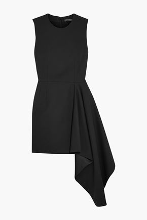 ALEXANDER MCQUEEN Asymmetric wool-blend twill mini dress