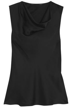 STELLA McCARTNEY Draped silk-satin top