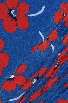 ALICE + OLIVIA Cropped floral-print silk crepe de chine top