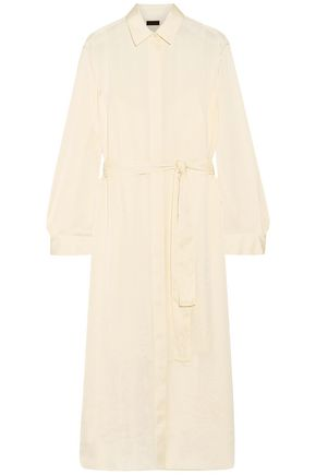 THE ROW Camisea charmeuse maxi shirt dress