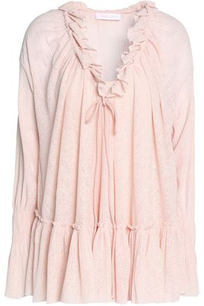 SEE BY CHLOÉ Ruffle-trimmed knitted top