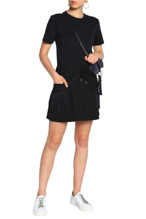 SEE BY CHLOÉ Fringe-trimmed cotton-jersey mini dress