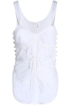 CHLOÉ Button-detailed cotton-gauze top