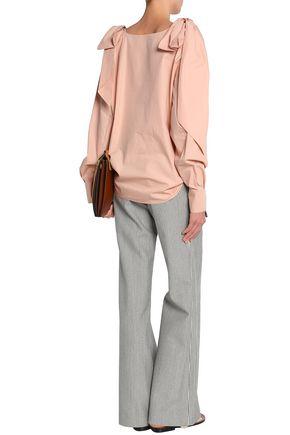 CHLOÉ Bow-detailed cotton-poplin blouse