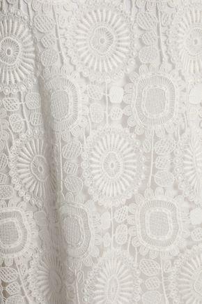 CHLOÉ Guipure lace-paneled cotton-blend dress