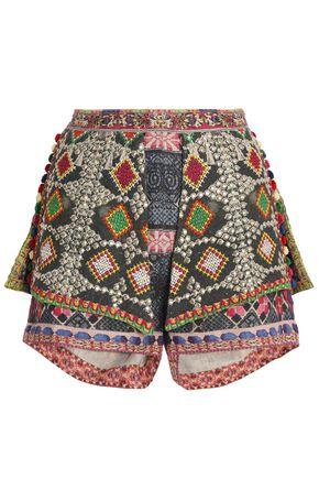 CAMILLA Layerd printed linen shorts