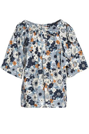CHLOÉ Floral-print cotton blouse