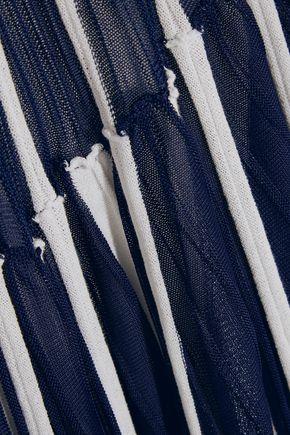 CHLOÉ Pleated stretch-knit maxi dress