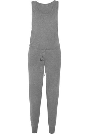 STELLA McCARTNEY Mélange wool-jersey jumpsuit