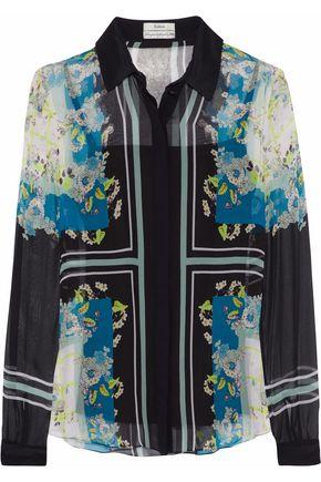 ERDEM Sloane printed silk-georgette shirt