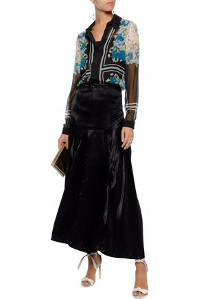 786d3930b56f ERDEM Sloane printed silk-georgette shirt