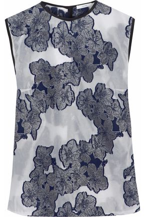 ERDEM Naomi fil coupé silk top