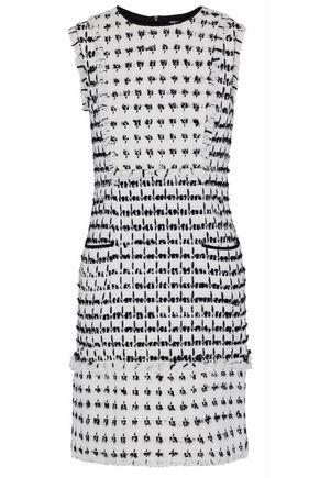 ERDEM Kadri frayed tweed mini dress
