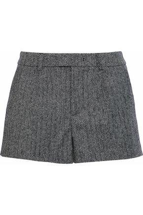 REDValentino Herringbone wool-blend shorts