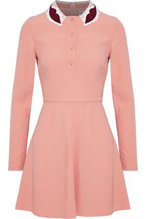 REDValentino Appliquéd crepe mini dress