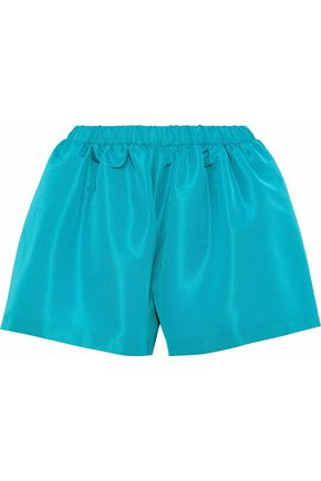 REDValentino Gathered satin-faille shorts