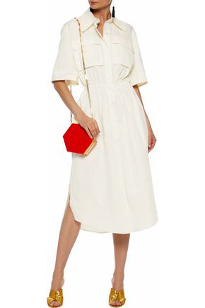 SOLACE LONDON Cotton-poplin midi shirt dress