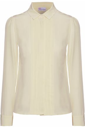 REDValentino Pleated silk shirt