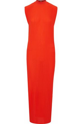 SOLACE LONDON Plissé-crepe maxi dress
