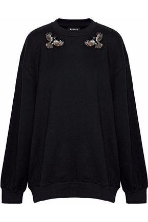 MARKUS LUPFER Embellished cotton-fleece sweatshirt