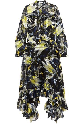 ERDEM Niamh ruffled floral-print silk-chiffon maxi dress